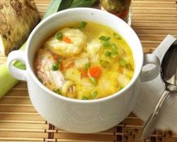 овощной-суп-с-рыбными-клецками