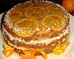 апельсиновый-торт