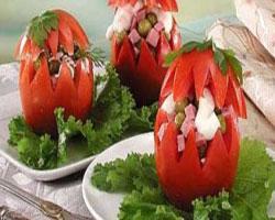 помидоры-с-творогом-зеленым-горошком