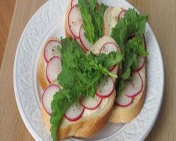 бутерброды-с-творогом-и-редиской